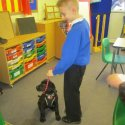 Puppy walking with Harry\'s school friend